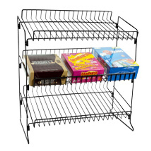 3 Tier Counter Top Snack Rack -Black