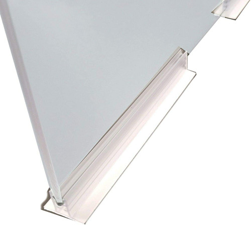 "6"" L Adhesive Plexiglass Sneeze Guard Holder™"