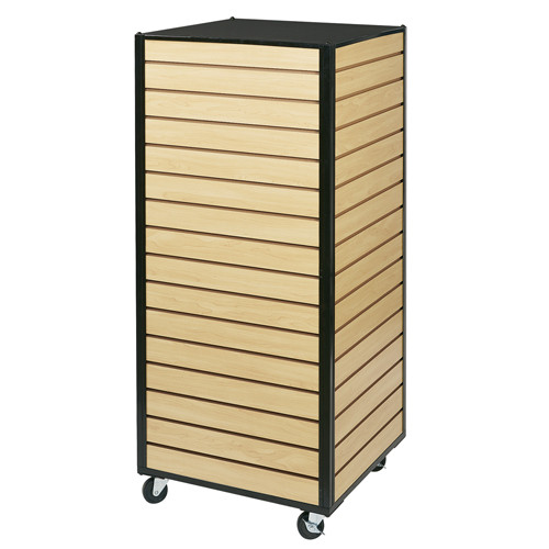 Slatwall Rolling Cube  Tower Merchandiser