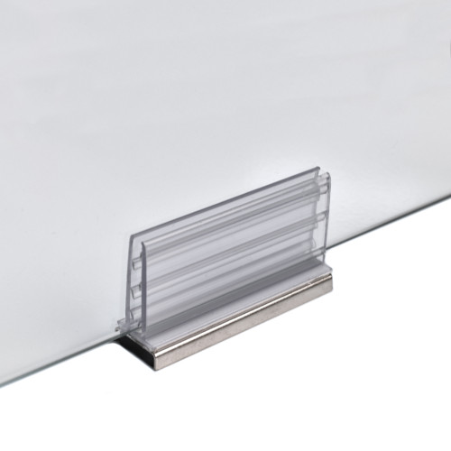 Large Magnetic Sneeze Guard Holder™ for Acrylic Panels & Plexiglass Sheets