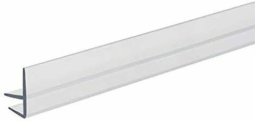 "Acrylic Front Lip for Glass Shelves 48"" L"