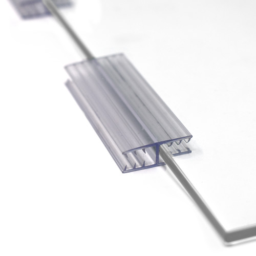 "3"" L Flat Plexiglass Panel Connectors, 180 Degree Sneeze Guard Holders to Join Acrylic or Glass Sheets between 3/16"" to 1/4"" Thick"