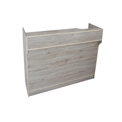 Economy Ledge Top Checkout Counter / Register Stand Grey Barnwood Series