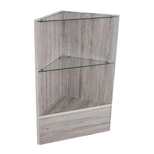 Economy Triangle Corner Counter - Barnwood Grey Series