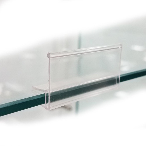 "Fits glass shelves 1/4"" or 3/16"" thick."