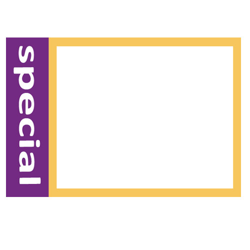 "7"" X 11"" - Modern White & Purple Special Sale Signs - 100 Pack"