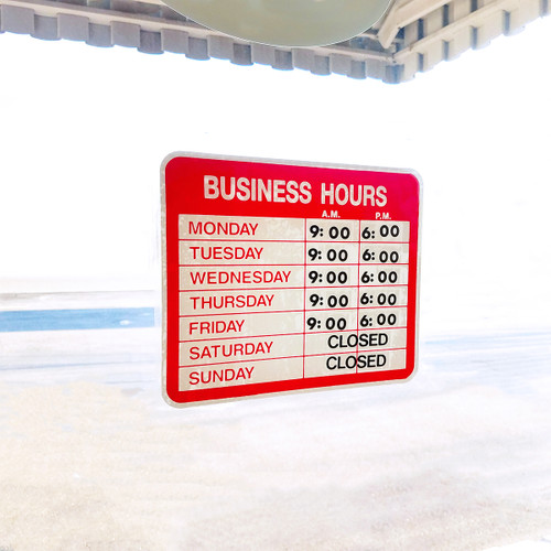 Static Open & Closed Business Hours Window Sign