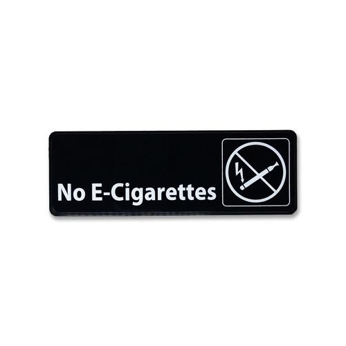 No E-Cigarettes Policy Sign - Black