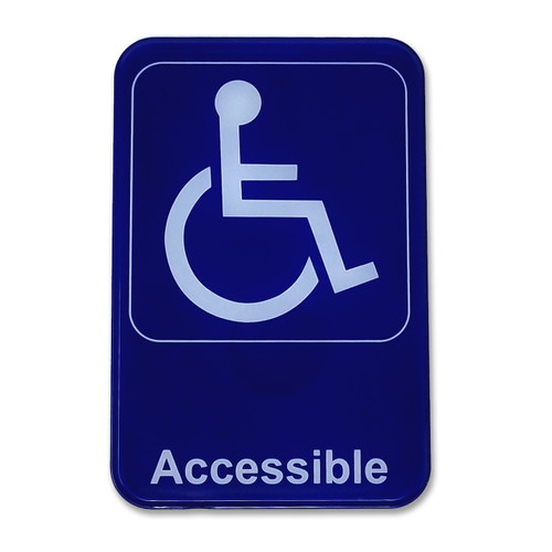"6"" W x 9"" H Handicap / Wheelchair Accessible Sign"