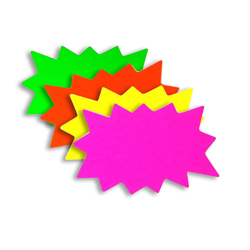 BLANK Solar Star Burst Sale Signs - 100 Pack