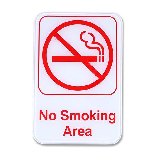 "6"" W x 9"" H No Smoking Policy Signs - White"