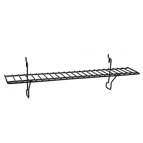 "4"" D x 23"" L Slatwall Wire Retail Display Shelf - 10 Pack"
