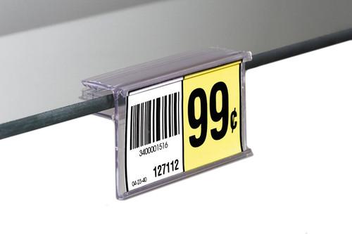 Glass Shelf UPC Ticket Label Holder Grip
