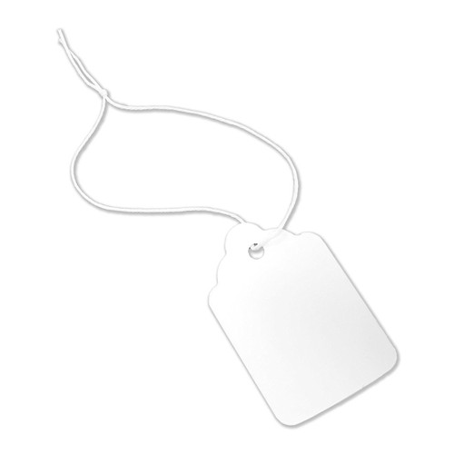 Blank Strung Merchandise Pricing Tags