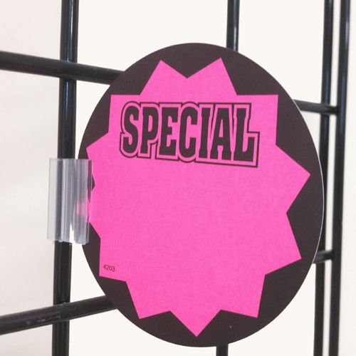 Gridwall Sign Clip for Wire Rack & Fixtures