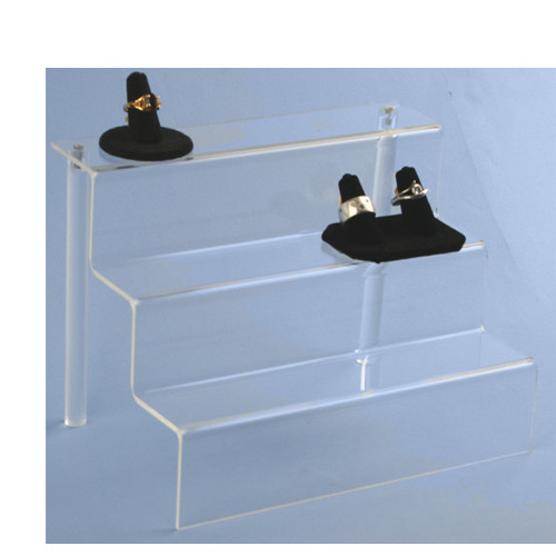 Clear Acrylic Countertop 3 Step Riser