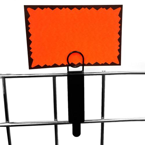 Metal Gridwall Sign Holder - Black