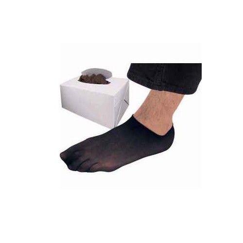 Men's Black Try on Foot Socks 1 Pack, 72 Pairs, 144 Pieces