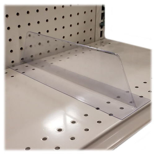 Lightweight T Shaped Plastic Shelf Divider - 10 Pack