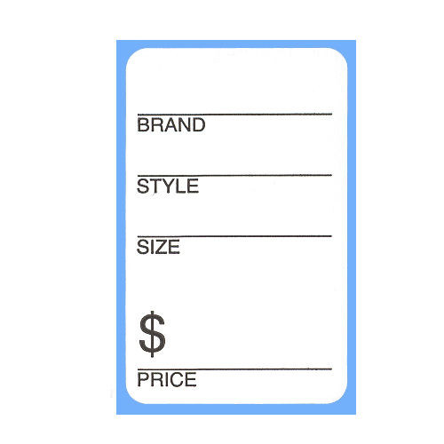 Self Adhesive Brand, Style, Size & Price Shoe Store Labels