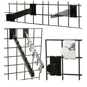 Grid Shelf Brackets and Accessories