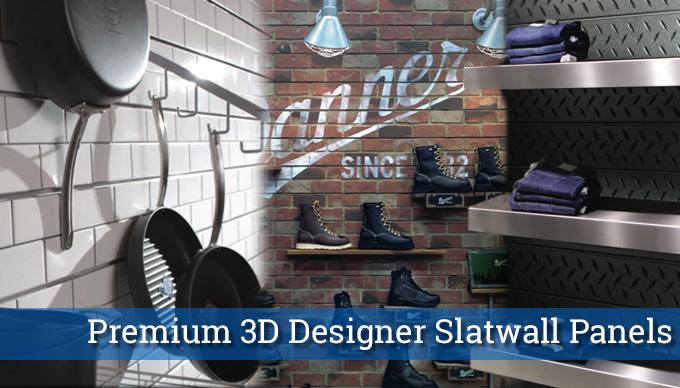 premium 3d designer slatwall panels