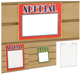 Slatwall Sign Holders