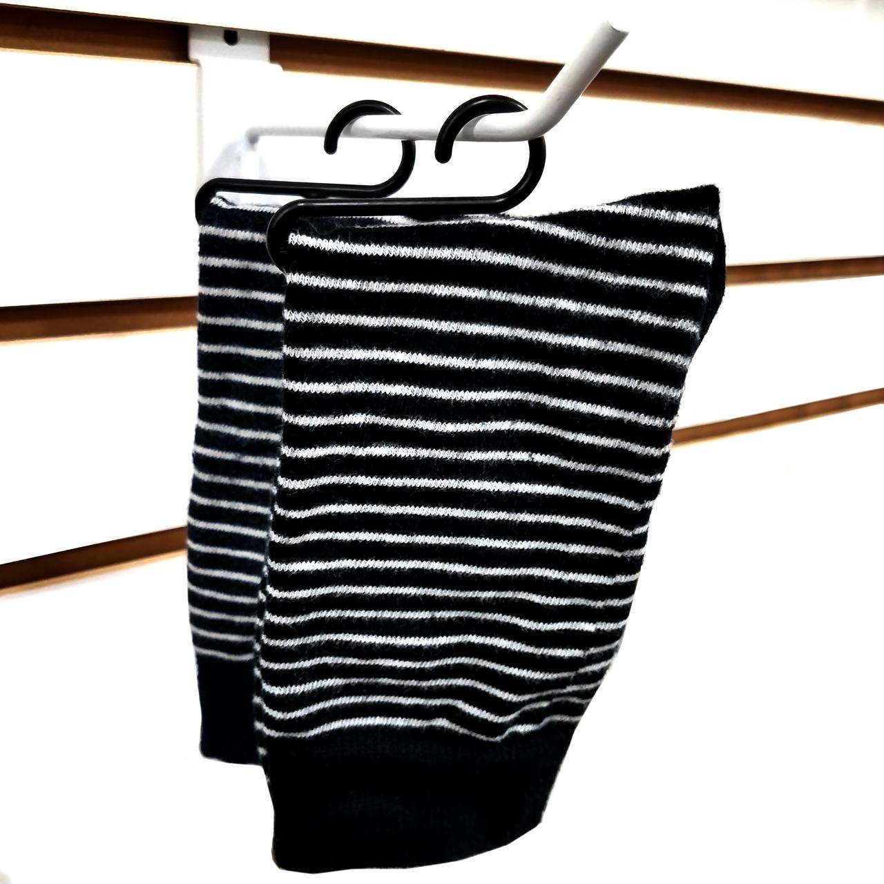 """Black Sock Hanger Hook Non-Slip Sock Clip 3.38/"""" L Multiple Pack Sizes Available"""