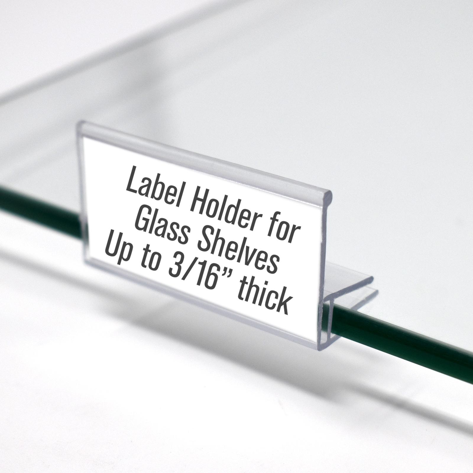 Amazing Glass Shelf Clip On Label Holder 50 Pack Home Interior And Landscaping Ferensignezvosmurscom