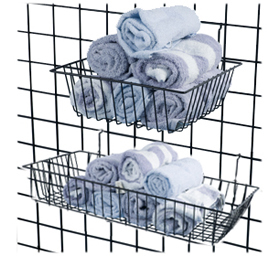 Grid Shelves and Baskets