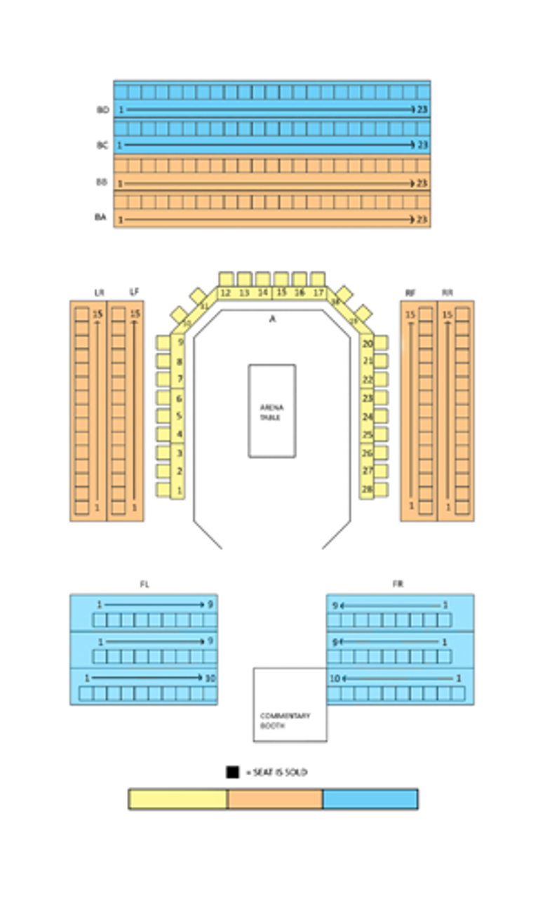 Blue Seating Section