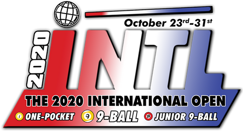 2020 International Invite - ONE-POCKET: PLEASE CALL OFFICE TO APPLY: 973-838-7089