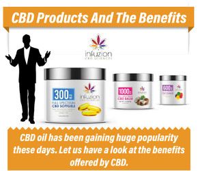 CBD Products and Benfits Infographic