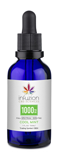30ml Cool Mint 1000MG CBD TINCTURE 1oz