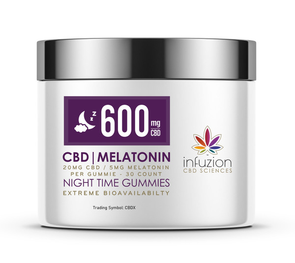 20MG CBD - 5MG MELATONIN GUMMIES / 30 COUNT - NIGHT TIME