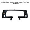 1990-92 Chevy Camaro Gauge Cluster Face Plate - Back