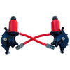 1987-1992 Firebird GM Custom color Red Headlight Motor Actuator set.