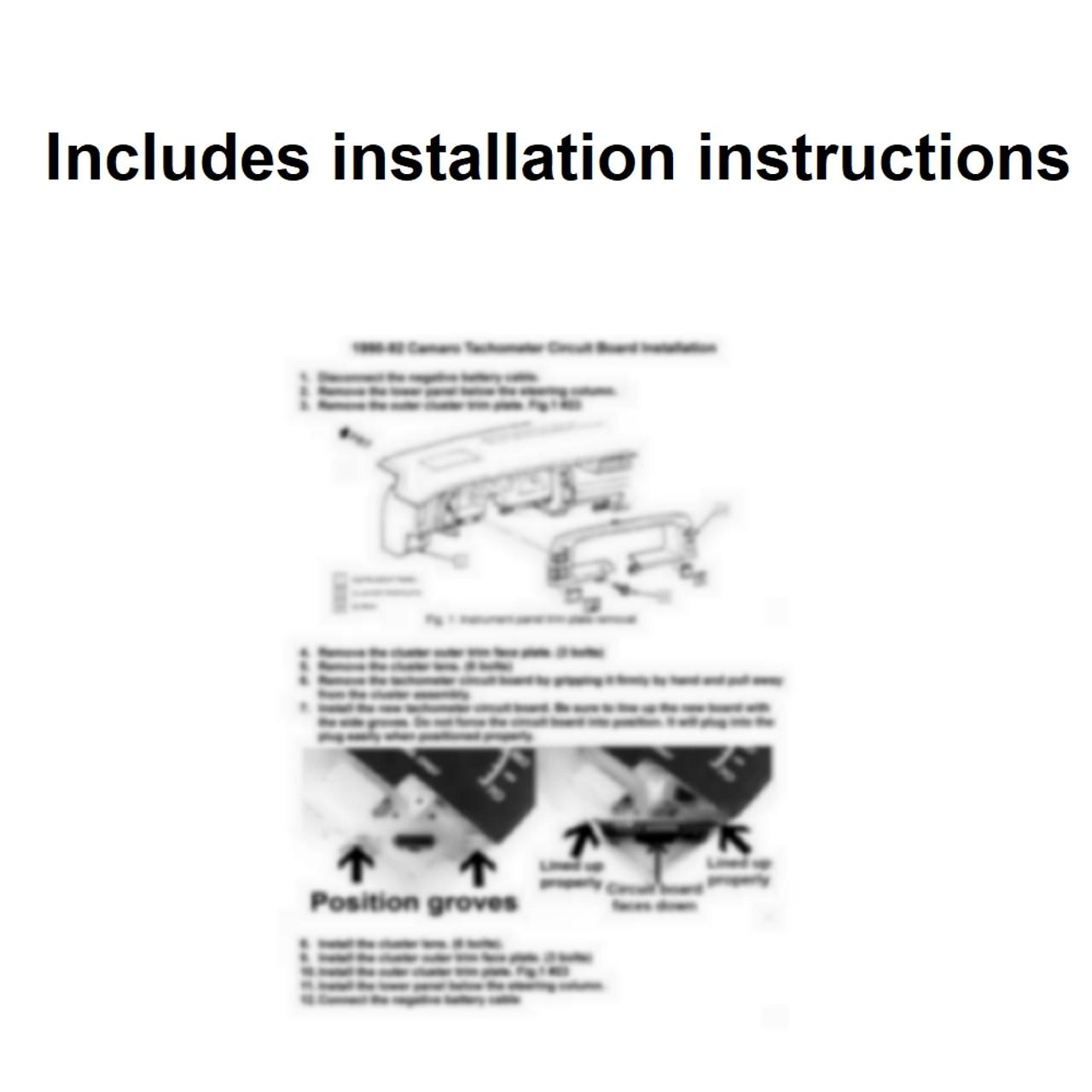 1990-92 Camaro Tachometer Circuit Board removal and installation
