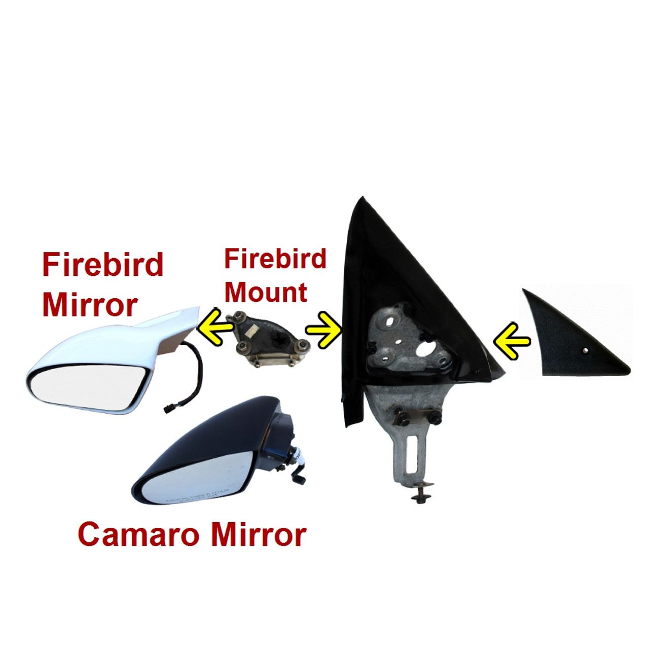 1993-2002 Camaro and Firebird Mirror Applique. LH