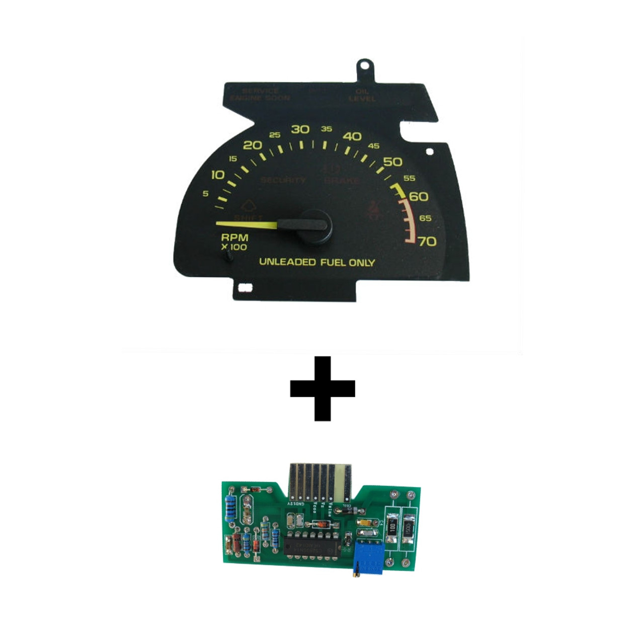1990-92 Chevy Camaro V6 Tachometer and Circuit Board. Ready to install