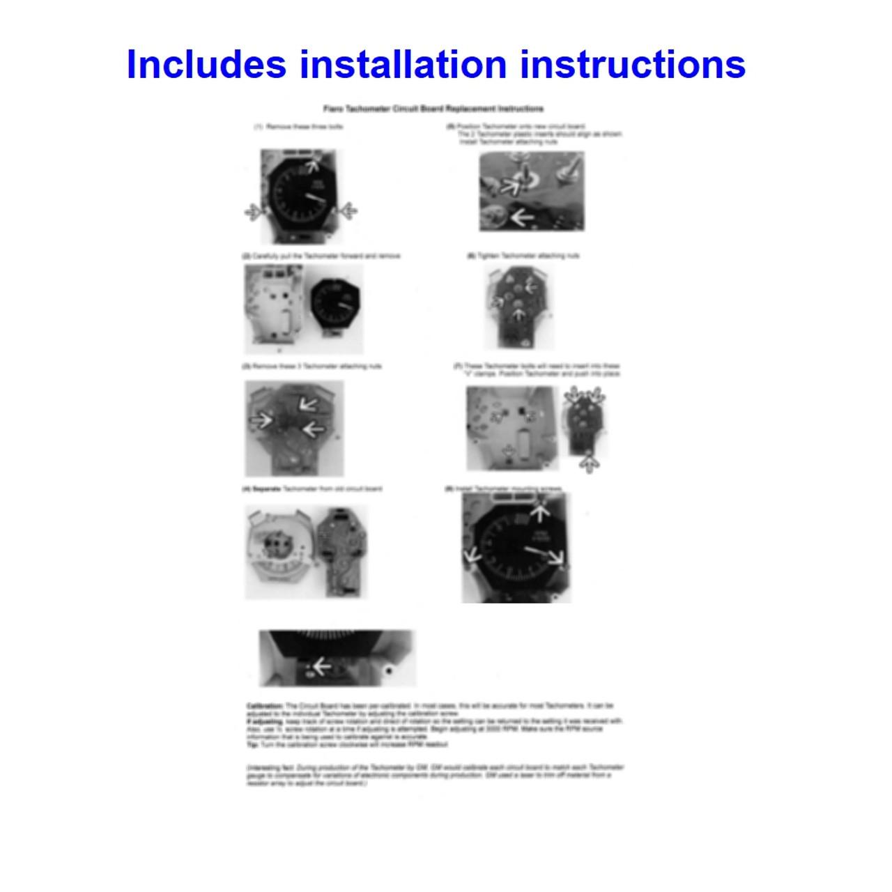 1986-88 Pontiac Fiero V6 Tachometer Circuit Board. Installation instructions