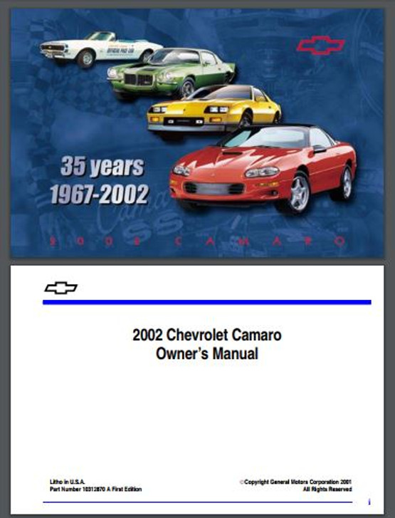 1987 chevy camaro owners manual