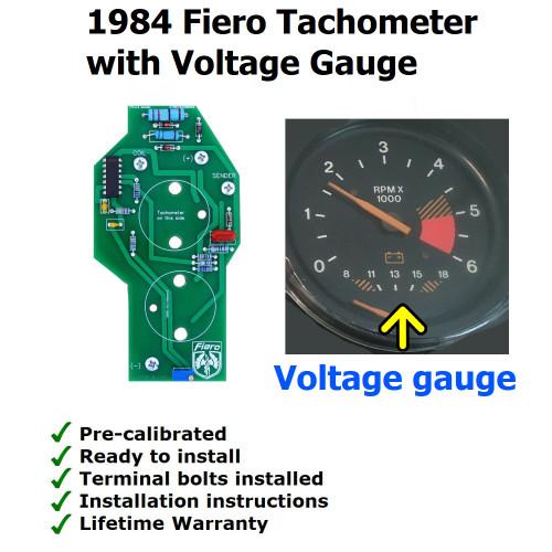 1984 Fiero Tachometer Circuit Board. Voltage Gauge type Tachometer