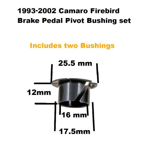 1993-2002 Camaro Firebird Brake Pedal Pivot Bushing set