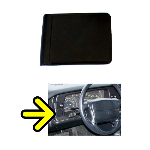 1990-92 Camaro Dash Panel Bezel GM part number 10095255 installation location