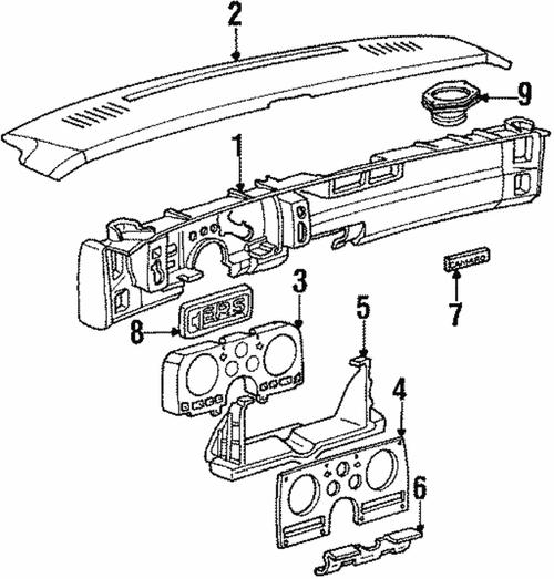 1986-89 Camaro Under Dash Steering Column Cover. GM 14031706