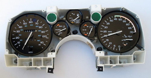 1988-89 Camaro Rally Instrument Gauge Cluster V8 GM 25088003. FRONT