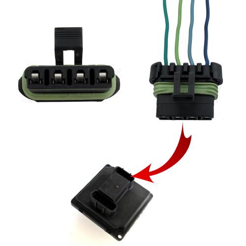 1987-2002 Firebird Headlight Control Module Plug 4-connector