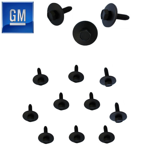 1982-92 Camaro Firebird Body Bolts. GM Black