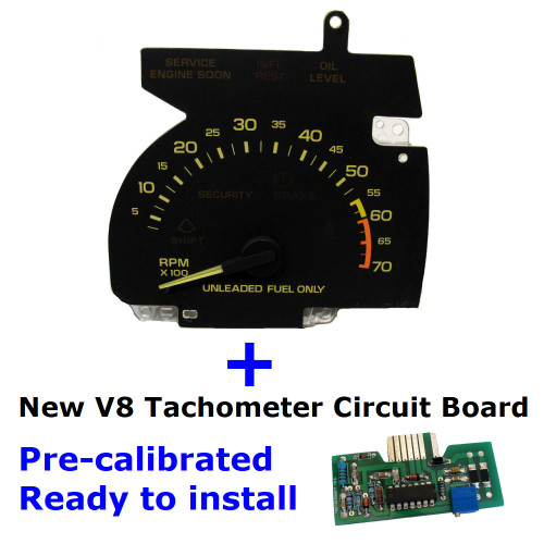 1990-92 Chevy Camaro V8 Tachometer and new Circuit Board set